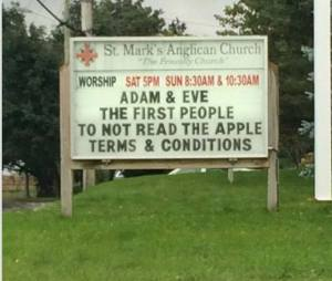 Adam, eve and those damn apples