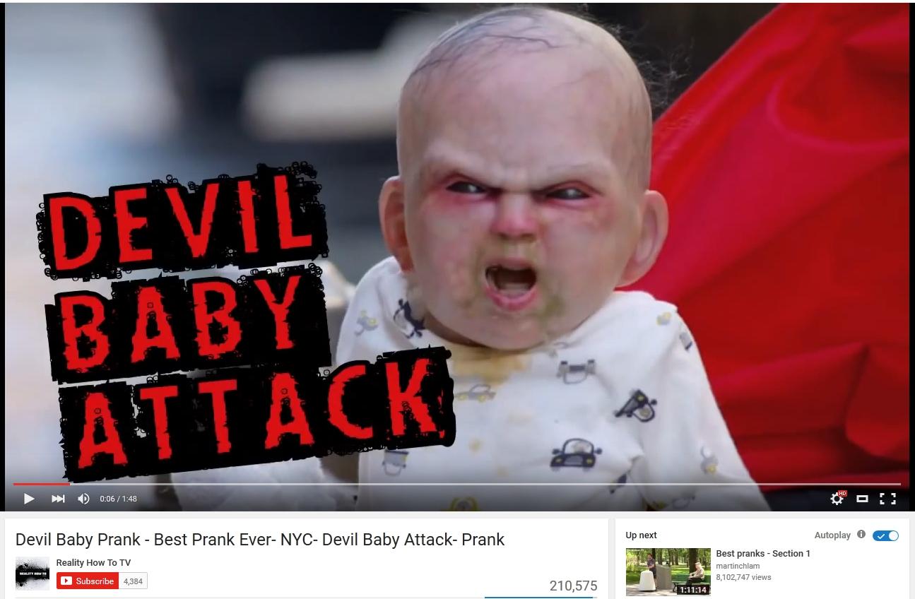 devil prank