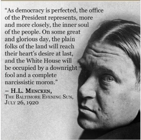 Mencken, democracy perfected