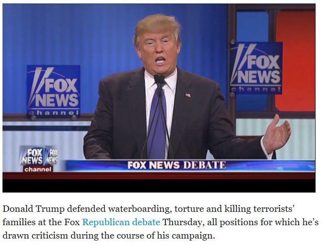 trump defending torture