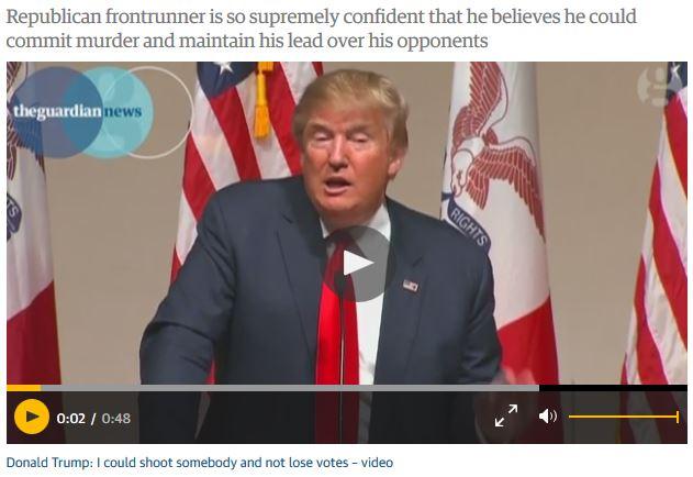 trump shooting people