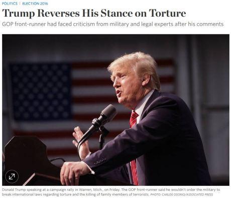 trump torture