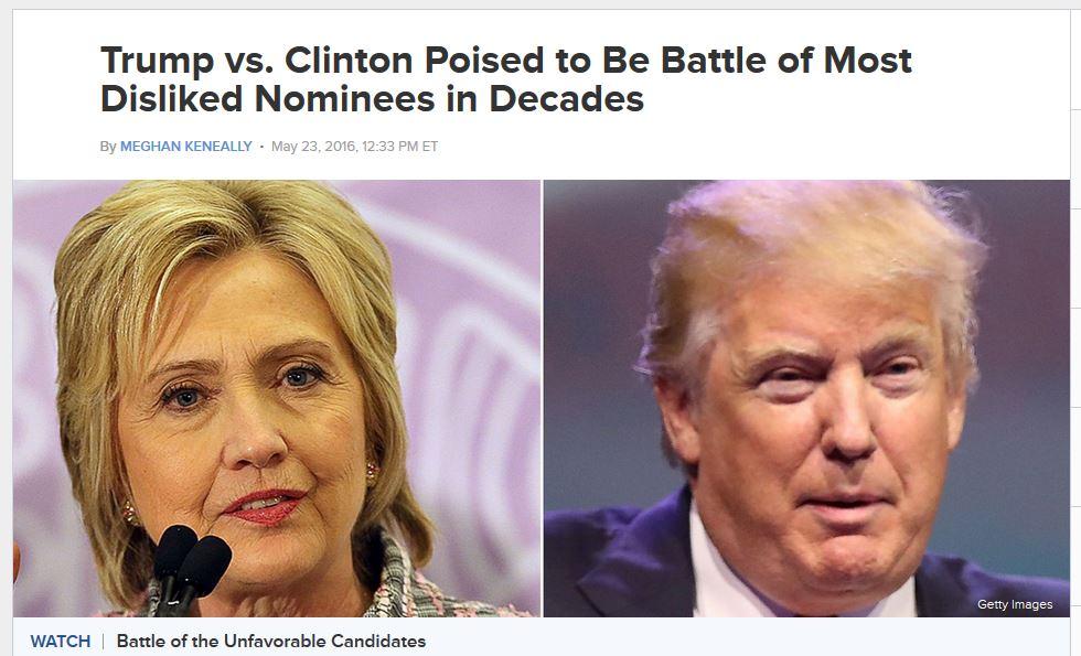 Clinton, trump, unpopular