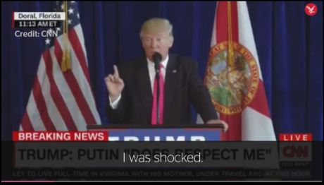 a shocked again trump