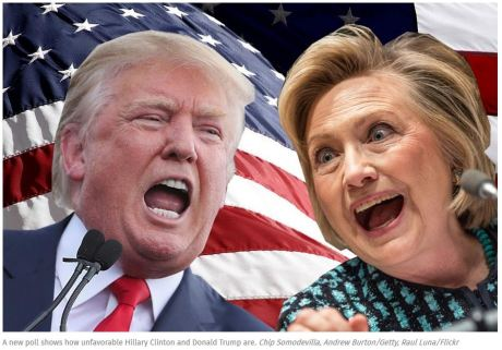 unfavorable trump clinton