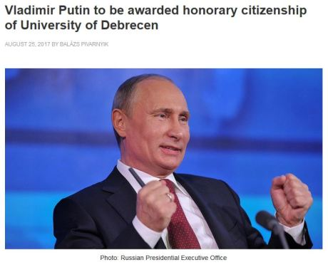Putin honorary