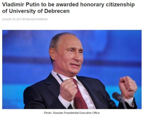 Putin honorary