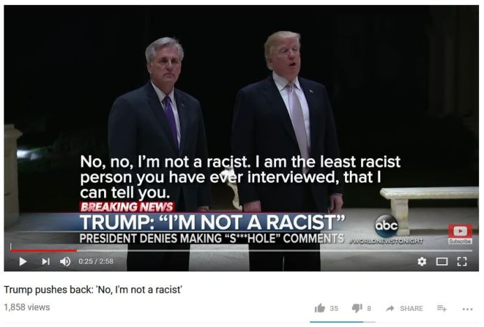 I'm not a racist