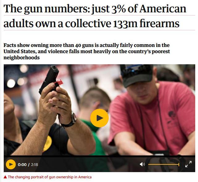3% gun owners
