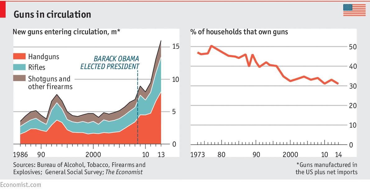 guns in circulation per household